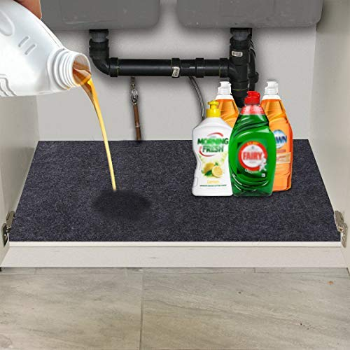 Under The Sink Mat,Kitchen Tray Drip,Cabinet,Absorbent Felt Layer Material,Backing Waterproof(36inches x 24inches)
