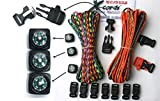 X-CORDS Paracord Bracelet Kit with Fire Starter Buckle-Compass-Buckles-Whistle Buckles and Instructions Makes 10 (Camo Explorer Kit)