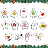 Sunshine smile Moldes para fondant, cortadores de Navidad, de acero inoxidable, para galletas, Navidad, 14 unidades