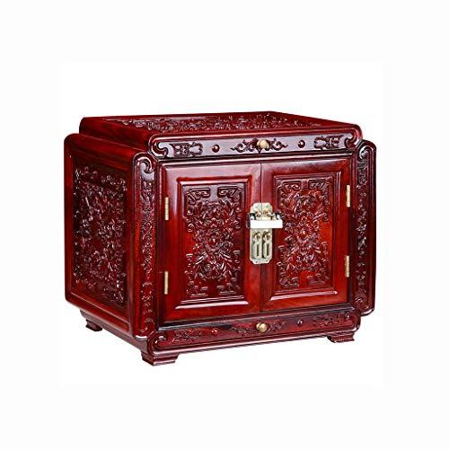 JISHIYU-Q Joyero caja de almacenaje de la joyería antigua caja de almacenaje de la joyería creativa del regalo de cumpleaños del palo de rosa africano Caja retro caja de regalo, decoración casera de m
