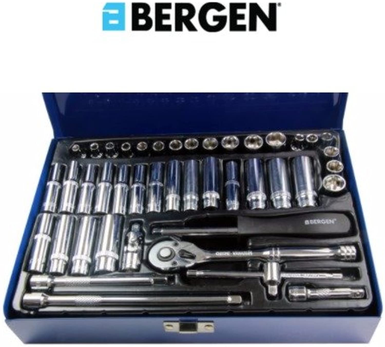 Bergen 42 1 4 Zoll Antrieb metrisch & AF Socket Set B1001 B013JY7HMC | Verschiedene aktuelle Designs