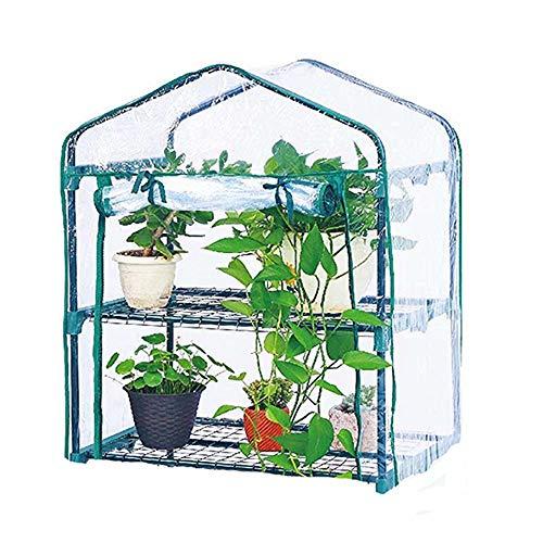 Invernadero de jardín, tienda de jardín de tomate con cubierta de plantas de PVC de invernadero, cubierta de tela de rejilla de PE a prueba de lluvia Grow House