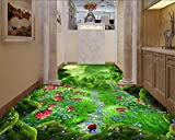 Kundenspezifisches 3D-Bodenbild Original Forest Fantasy Road 3D-Bodentapete PVC-Bodenfolie Selbstklebende Tapete-150 cm x 105 cm (59,1 x 41,3 Zoll)