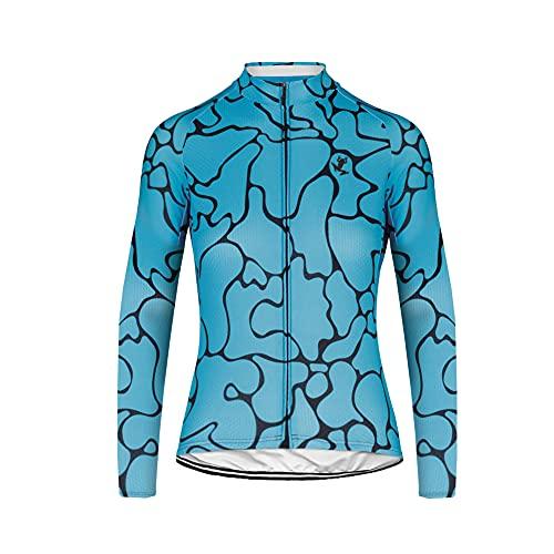 UGLY FROG Frühling/Herbst Männer Radfahren Kleidung Set Fahrrad Anzug Outdoor Langarmtrikot+ Bib Hose Atmungsaktiv Schnell Trocken (Trikots Wird separat verkauft)