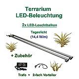 [page_title]-Aquarium-Plüderhausen Terrarium LED Beleuchtung Wüsten Reptilien Pflanzen LED 80 cm Set2 Leuchtbalken