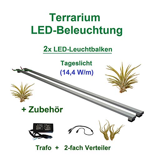 Aquarium-Plüderhausen Terrarium LED Beleuchtung Wüsten Reptilien Pflanzen LED 80 cm Set2 Leuchtbalken