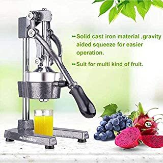 Commercial Citrus Press Fruit Squeezer Press Juicer Manual for Orange Lemon Pomegranate Juicing -Extracts Maximum