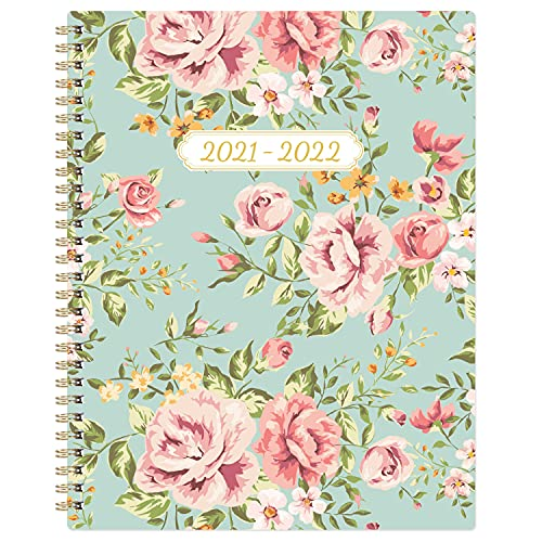 Planner 2021-2022 - July 2021-June 2022 Weekly Monthly Planner with Flexible Cover, 8' x 10', Check Boxes as To-do List, Monthly Printed Tabs, Perfect for Home, Office Using
