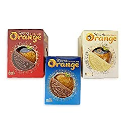 Terry's Chocolate Orange 157g 3 Pack Includes - 1 x Terry's Milk Chocolate Orange (157g), 1 x Terry's White Chocolate Orange (157g), 1 x Terry's Dark Chocolate Orange (157g) Deliciously Unsquare Since 1932... Made With Real Orange Oil! The Perfect Gi...
