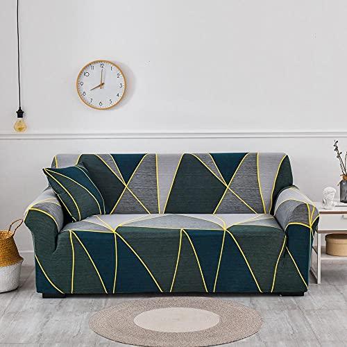 ASCV Funda de sofá elástica para Sala de Estar Funda de sofá de Licra para sofá de Esquina Funda de sillón A9 4 plazas