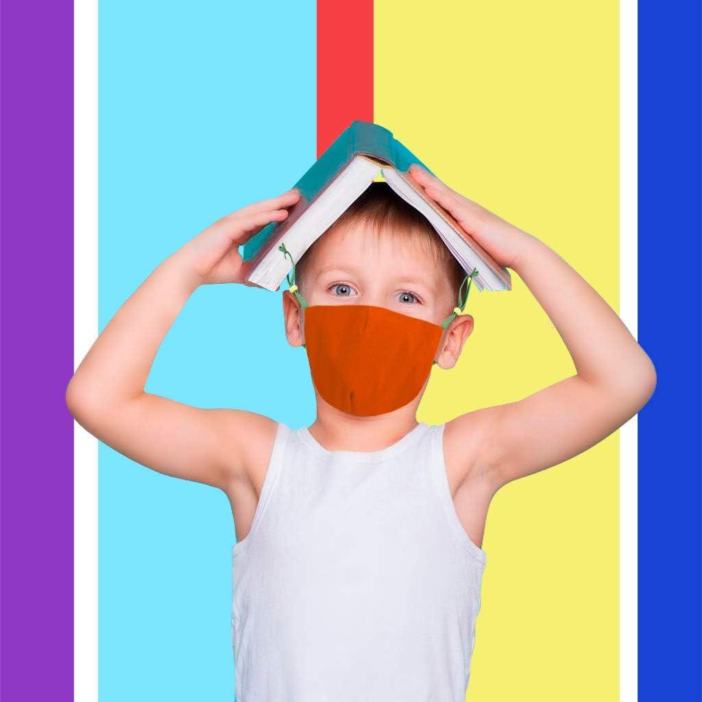 50 Stück Kinder Einweg 3-lagig,Face Shield für Kinder Children, mit süßem Dinosaurier-Druckmuster, Fashion Outdoor Elastic Ear Loop Face Bandanas Student
