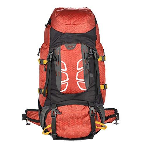 Yy.f 55L Camping Extérieur Sac à Dos De Voyage Imperméable Sac à Dos D'alpinisme Sac De Randonnée Grand Sac à Dos Multifonctionnel. Multicolore,Orange-30*20*68cm