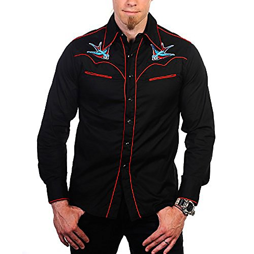 Banned Hemd Swallow Shirt Black-red S