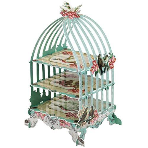 STOBOK Birdcage Cake Stand 3 Layers Cupcake Display Holder Wedding Tea Birthday Party Dessert Rack