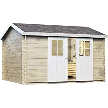 Skan Holz Cabaña Madera tejado Plano 833501100000 Breda Casa, 28 ...
