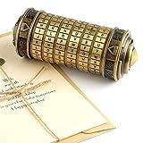TUPARKA Da Vinci Code Mini Cryptex Puzzle Cajas Día de San Valentín Interesante Caja Creativa Creativa Cumpleaños romántico para Sus Mujeres (Bronce)