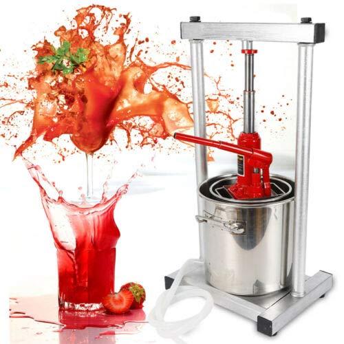 12 Liter Weinpressen Entsafter Obst/Traube/Apfel/Apfelwein Hydraulischer Entsafter