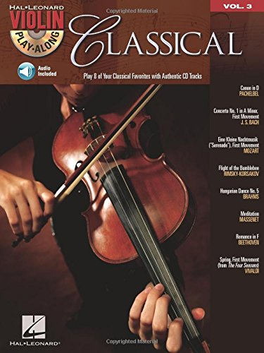 Violin Play-Along Volume 3 Classical Vln Book (Hal Leonard Violin Play Along)