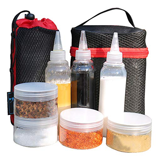 WGIA Portable Spice Jars Condiment Storage Container Set with Carry Bag