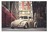 Leinwand-Bild Auto VW Käfer Oldtimer Wandbild Automobil