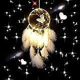 Campanas de Viento, atrapasueños LED, Plumas con Luces de Hadas, lámpara Colgante de...