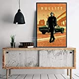N / A Film Classico Protagonista Personaggi Caldi John Wick Drive Pulp Fiction Regalo Wall Art Decor Pittura Poster Stampe su tela60x90cm
