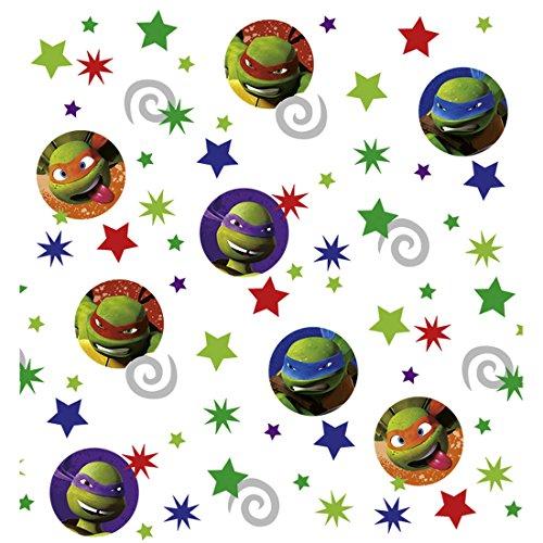 NET TOYS Confettis Tortues Ninja 34 g Anniversaire d'enfant confettis Décoration de Table fête garçon confettis en Papier Ninja Turtles Accessoires Anniversaires des Enfants décoration