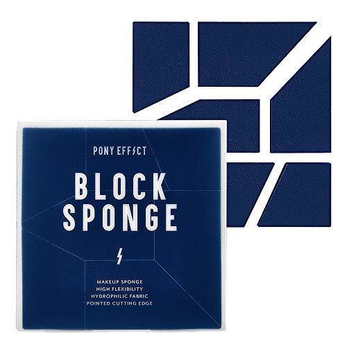 PONY EFFECT Block Sponge Foundation Blending Sponge | Makeup Blender Sponge for Dry or Wet Use | K-beauty