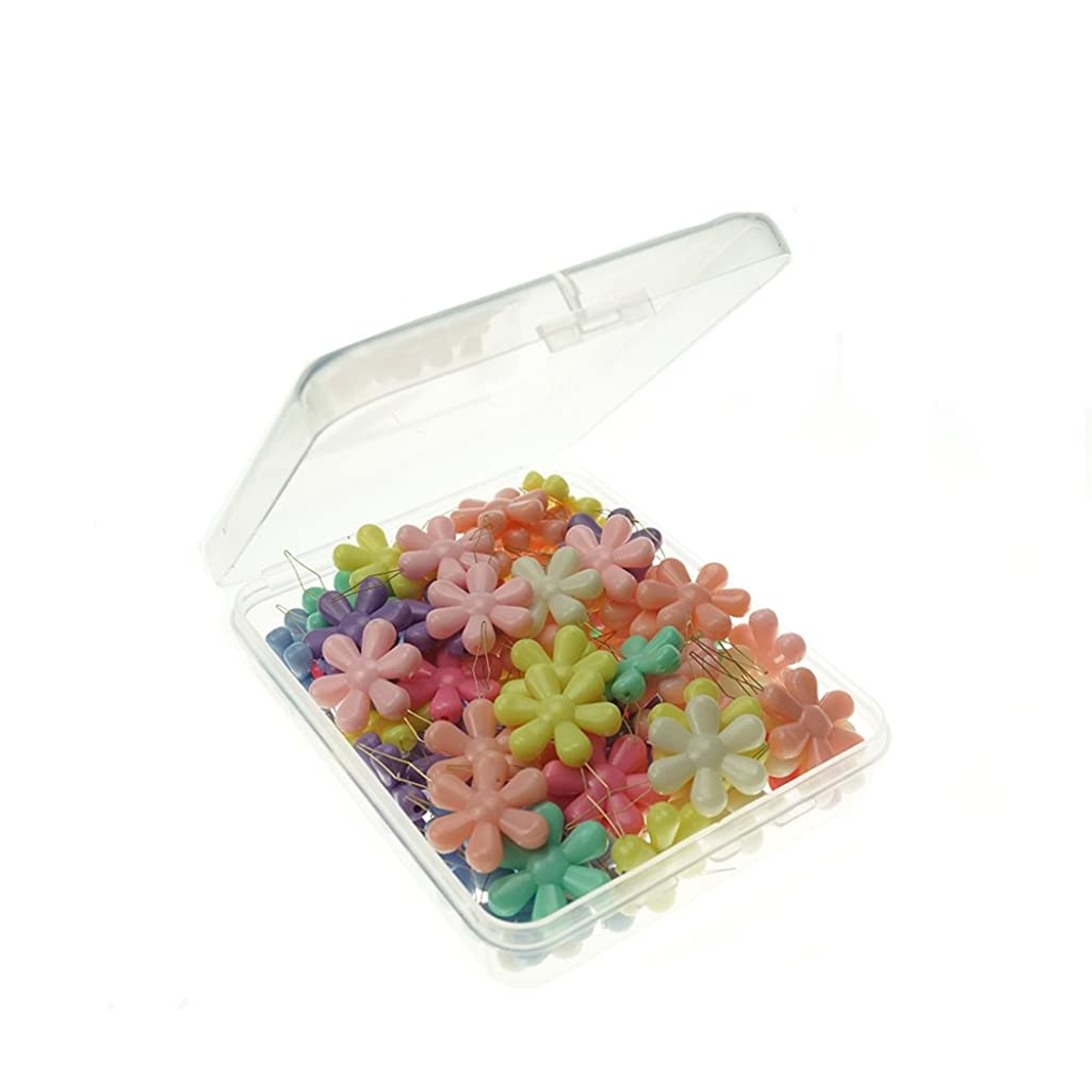 Blipala 80 Pieces Flower Plastic Sewing Needle Threaders with Clear Box,Multicolor