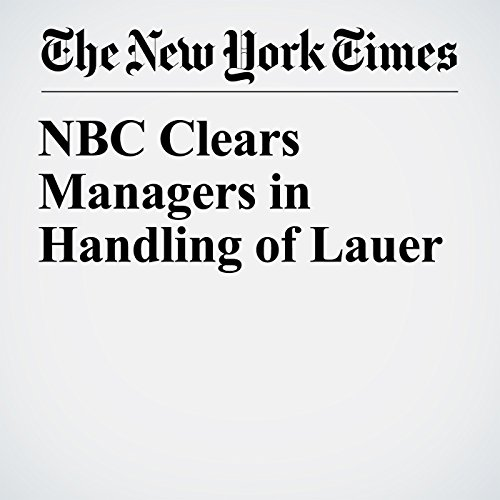 NBC Clears Managers in Handling of Lauer copertina