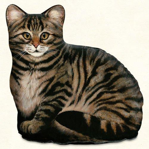 Doorstops - Brown Tabby Cat Doorstop - Tabby Cat Door Stopper