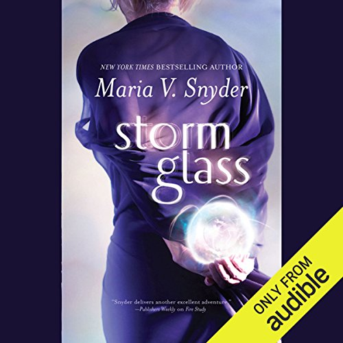 Storm Glass audiobook cover art
