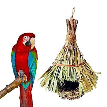 Balacoo nid d'oiseau Fait à la Main lit de Cage pour Oiseaux Perroquet Colombe Cockatiel élevage éclosion nid d'oiseaux Accessoires (23x14x14cm)