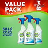 Dettol Antibacterial Surface Cleaning Spray, 750 ml, Pack of 3 (Packaging May Vary)