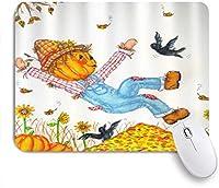 NIESIKKLAマウスパッド 幸せな秋のかかしカラスひまわりパッチ収穫 ゲーミング オフィス最適 高級感 おしゃれ 防水 耐久性が良い 滑り止めゴム底 ゲーミングなど適用 用ノートブックコンピュータマウスマット