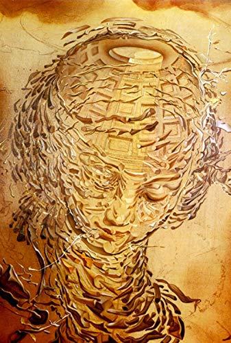 XQWZM Poster Und Drucke, Salvador Dali Kopf Explodierende Kunst Wand Leinwand Malerei Wandkunst Bild, Für Wohnzimmer Wohnkultur 60X90 Mt