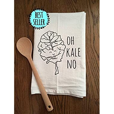 Funny Dishcloth/Tea Towel ~ Oh Kale No ~ Funny Kitchen Cloth, Vegetable Pun