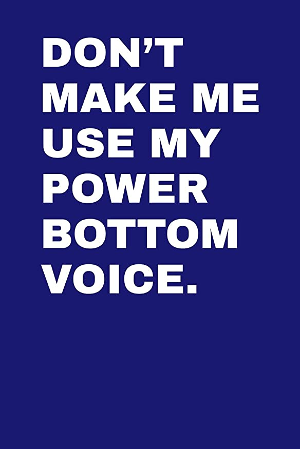 "寝室テレックス虫を数えるDon't Make Me Use My Power Bottom Voice: Dot Grid Notebook 6""x9"" 120 Pages"