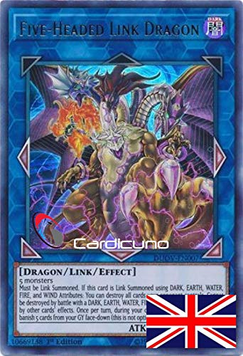 Five-Headed Link Dragon - DUOV-EN007 - Ultra Rare - Yu-Gi-Oh! - English - 1. Edition - With Toploader - Cardicuno