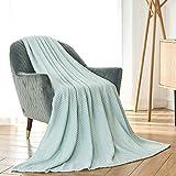 CAI TENG Flannel Fleece Blanket Super Soft Warm Cozy Bed Blanket Plush Lightweight Sofa Throw Blanket (Duck Egg, 60 x 80 inches)