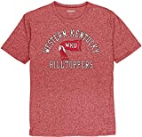 Reserve Collection by Blue 84 NCAA Western Kentucky Hilltoppers Mens Vintage Mock Twist Vault T Shirt, Western Kentucky Hilltoppers Red, Large