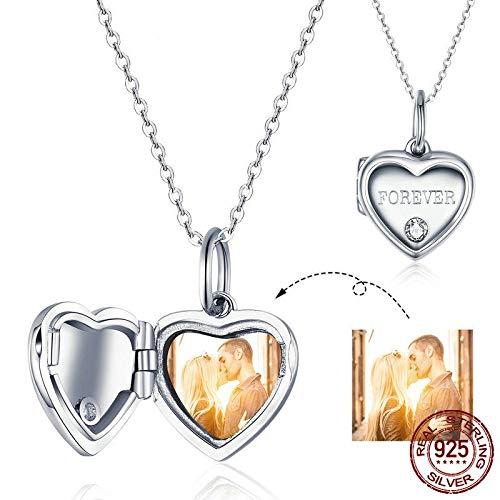 GMZTT Unieke aangepaste foto hart doos hanger halsketting voor vrouwen trouwdag geschenken customized Memory sieraden