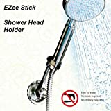 EZee Stick Suction Cup Shower Head Holder - Shower Head Adapter - Easy Push-Button Installation