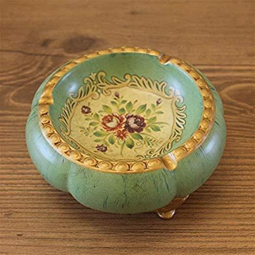 KEEBON Americano Pastoral cerámica cenicero Europeo Retro Mesa de café decoración artesanía decoración de la casa Creativa pequeña Fruta Placa