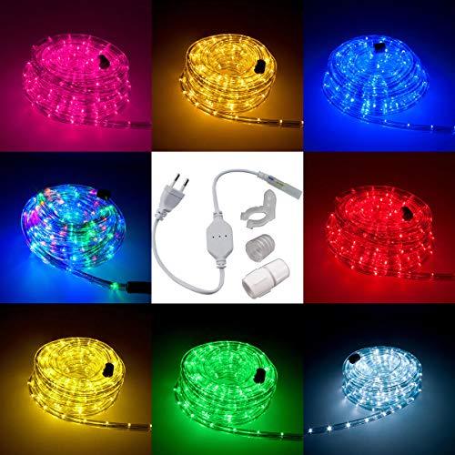 LED Lichtschlauch Komplett Set mit Zubehör Lichterkette Beleuchtung Grün Rot Warmweiß Blau RGB 5 Meter bis 50 Meter F3 LED für Drinnen/Draußen Weinachten Beleuchtung Dekoration Lichterschlauch