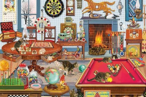 JINZUO 1000 Teile Erwachsenenpuzzle 3D 8 Jahre Altes Kinder Mädchen Junge Landschaft Spielzeug Beautiful Dekoration Geschenke Für Männer Und Frauen Billardtisch