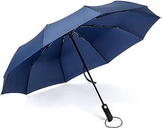 JSSFQK 自動傘大型防風二重傘雨と雨の傘黒、青、紫色のオプション 傘 (色 : 青)