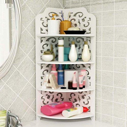 MENA HOME/Étagère de salle de bain Toilettes Évier d'angle Machine à laver Triangle Toilettes à plusieurs couches Toilettes comprises