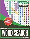 Large Print Word Search Puzzle Book: A Large Print Adults Word Search Book With Word Search Puzzles For Adults & Seniors-85 Puzzles & Solutions