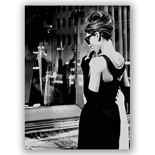 Box Prints Audrey Hepburn Frühstück bei Tiffanys Film Leinwand Wandkunst Druck Bild